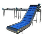 Flighted Incline Conveyor